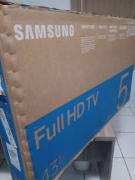 TV 43  polegadas Samsung smart no plástico ainda entrega local
