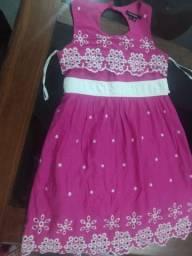 Vestido Rosa Social Infantil