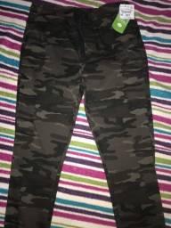 Calça jeans Jogger camuflada NOVA 38