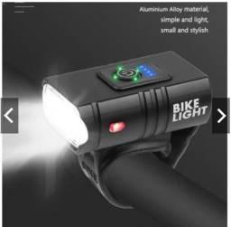 Lanterna Pequena Leve 6 modos de uso Usb Top para Bike Mtb e Speed