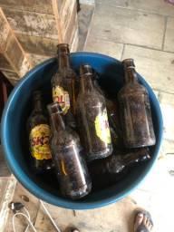 Lote 20 garrafas vidro cerveja