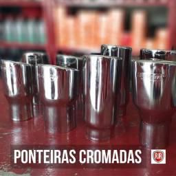 PONTEIRAS CROMADAS PARA CARROS