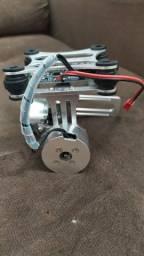 Gimbal Alumínio - CNC - 2 Motores - Para GoPro