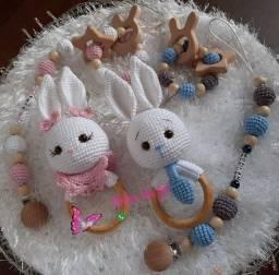 Kit chocalho de coelhos