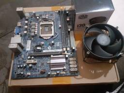 Placa mãe LGA 1155 + Cooler box