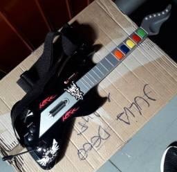 Guitarra para Playstation 2, sem fio, com alça