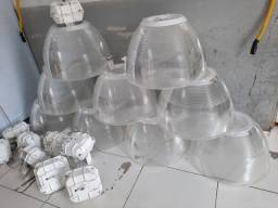 Luminaria industrial , grande 9 peças