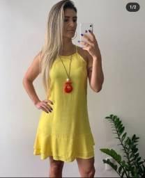 Lindo Vestido Tamanho GG! Amarelo!