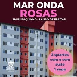 Residencial Mar Onda Rosas, 2 quartos com e sem suíte.