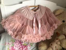 Saia tutu bailarina importada tamanho 8 - 9 anos rosa pink