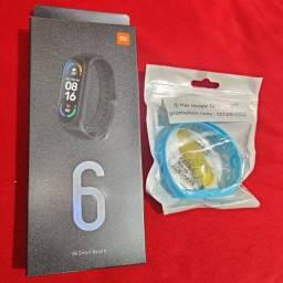 Xiaomi Mi Band 6 Original Nova Lacrada Versão Global + Pulseira Extra + Película protetora