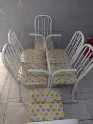 Mesa vidro 6 cadeira