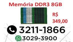 Turbine seu computador - Memória DDR3 8GB - apenas 349,00