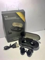 fone de ouvido Y30 bluetooth 5.0 touch