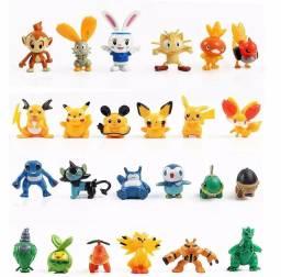 Lote De 24 Bonecos Miniatura Pokémon