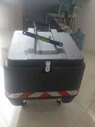 Bau moto 80 litro com suporte protork novo
