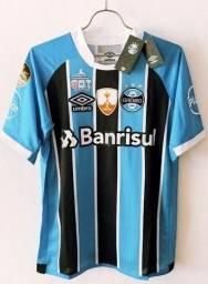 Camisa Grêmio Final Libertadores 2017 Luan #7 Lanus