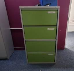 Arquivo de aço para escritório 4 gavetas ? cor verde