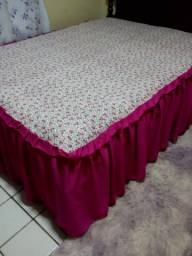 Colchas casal para camas box normal, king e queen, com elástico por baixo