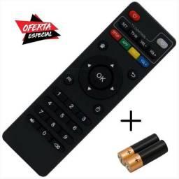 Controle TV Box + Pilhas