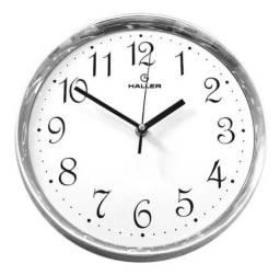 Relógio De Parede 30cm Cromado Infinity 30 Rb Haller