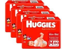 Kit Fraldas Huggies Supreme Care -  4 Pacotes
