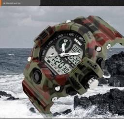 8df3bad4fb0 Relógio Skmei Militar Camuflado a prova d´água
