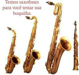 Boquilhas para sax alto, sax tenor, soprano e Barítono