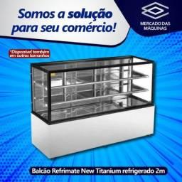 Balcões padaria confeitaria New Titanium inox seco, refrigerado ou estufa