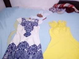 Roupas usadas mais em boas condições vestidos longos,curtos e 3 saias longas