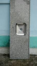 Pia de Granito com Cuba inox 1,80x0,60
