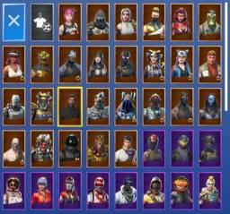 Conta Fortnite + 74 skins, 54 danças & 35 picaretas
