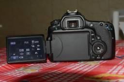 Câmera Canon 60D com lente 50mm 1.8