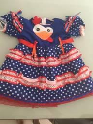 Vestido infantil(carnaval festa junina) veste até 3 anos 021956f2c85