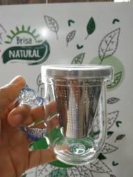 Copo para chá inteligente com filtro de aço Inox
