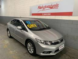 Honda Civic LXS 2012 1.8 Completo+GNV Manual //Financio sem Entrada //Aceito Troca