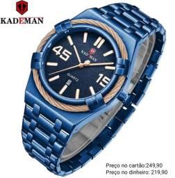 Relógio masculino importado original Kademan luxuoso e exclusivo