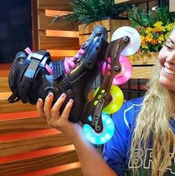 Rodas Led patins pronta entrega