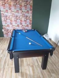 Mesa Tentação de 4 Pés Cor Tabaco Tecido Azul Mod. ATHQ5300