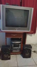 Tv29polegadas + Rádio +estante