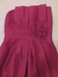 Vestido Rosa tomara que caia