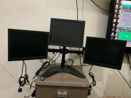 Suporte c/ 3 monitores