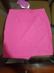 Vendo saia rosa lindíssima NOVA!