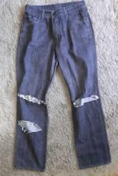 Calça Jeans destroyed m officer - masculina - 42