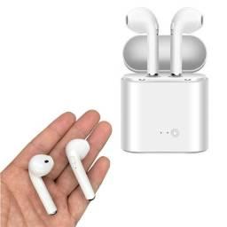 Fone de ouvido Bluetooth I7S - IOS e Android