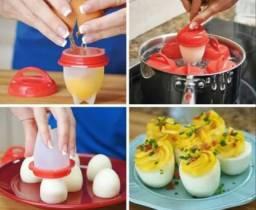 Kit formas de silicone para preparar ovos