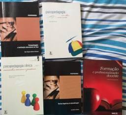 Livros educacionais, auto ajuda, receita.