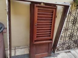 Janela madeira de pau d'arco + caixa + pedra