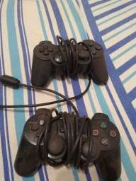 Controle de PS2 barato