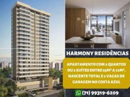 Harmony Residências, 2 quartos sendo 1 suíte, nascente em 65m² no Costa Azul